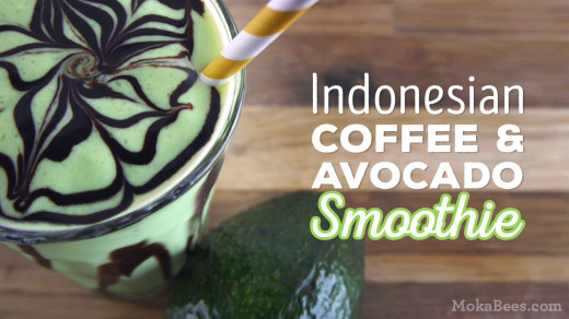 Indonesian Coffee Avocado Smoothie (Es Alpukat)