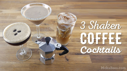 3 Shaken Coffee Cocktail Recipes + a Giveaway : Mocha Margarita, Horchata Coffee Cocktail & Espresso Martini